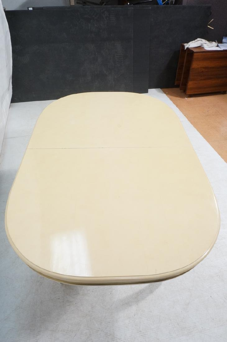 Champagne Lacquered Oval Modernist Dining Table. - 4