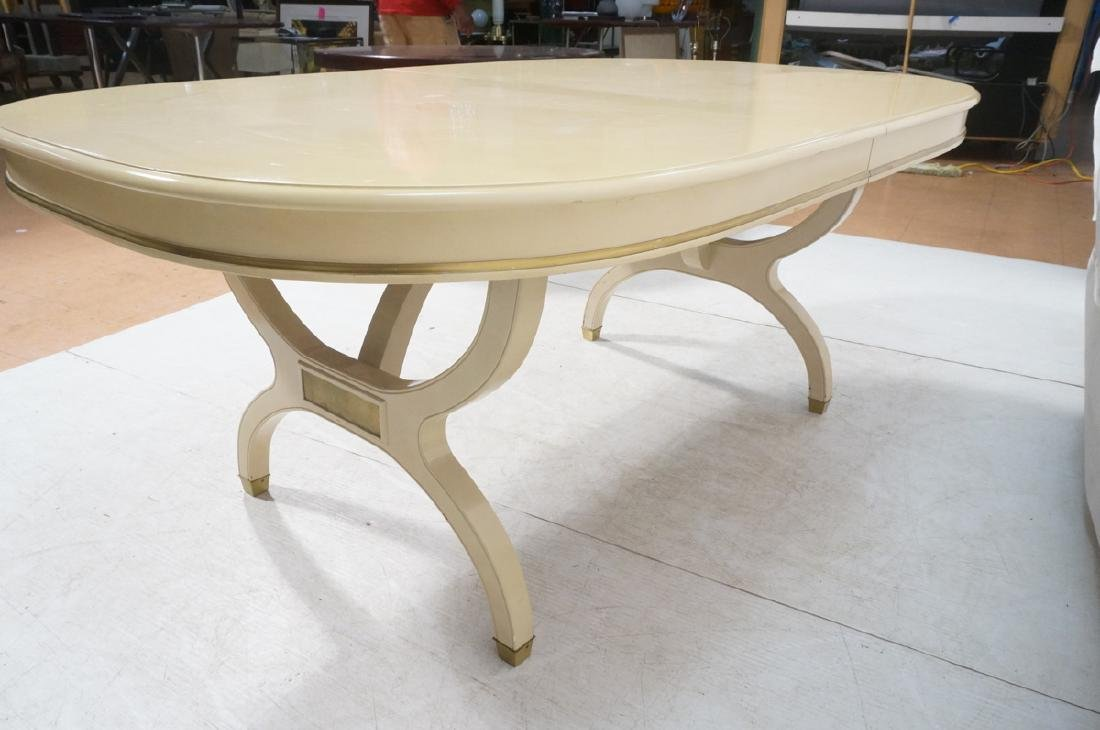 Champagne Lacquered Oval Modernist Dining Table. - 5