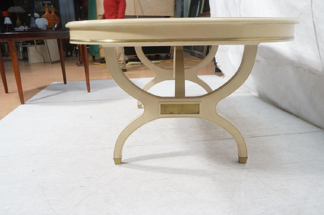 Champagne Lacquered Oval Modernist Dining Table. - 6