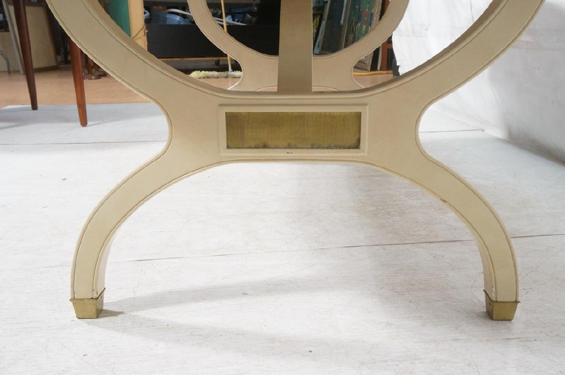 Champagne Lacquered Oval Modernist Dining Table. - 7