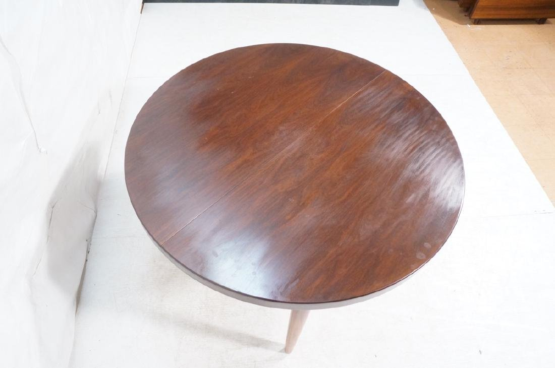 Round Rosewood Modernist Dining Table. Tapered le - 5