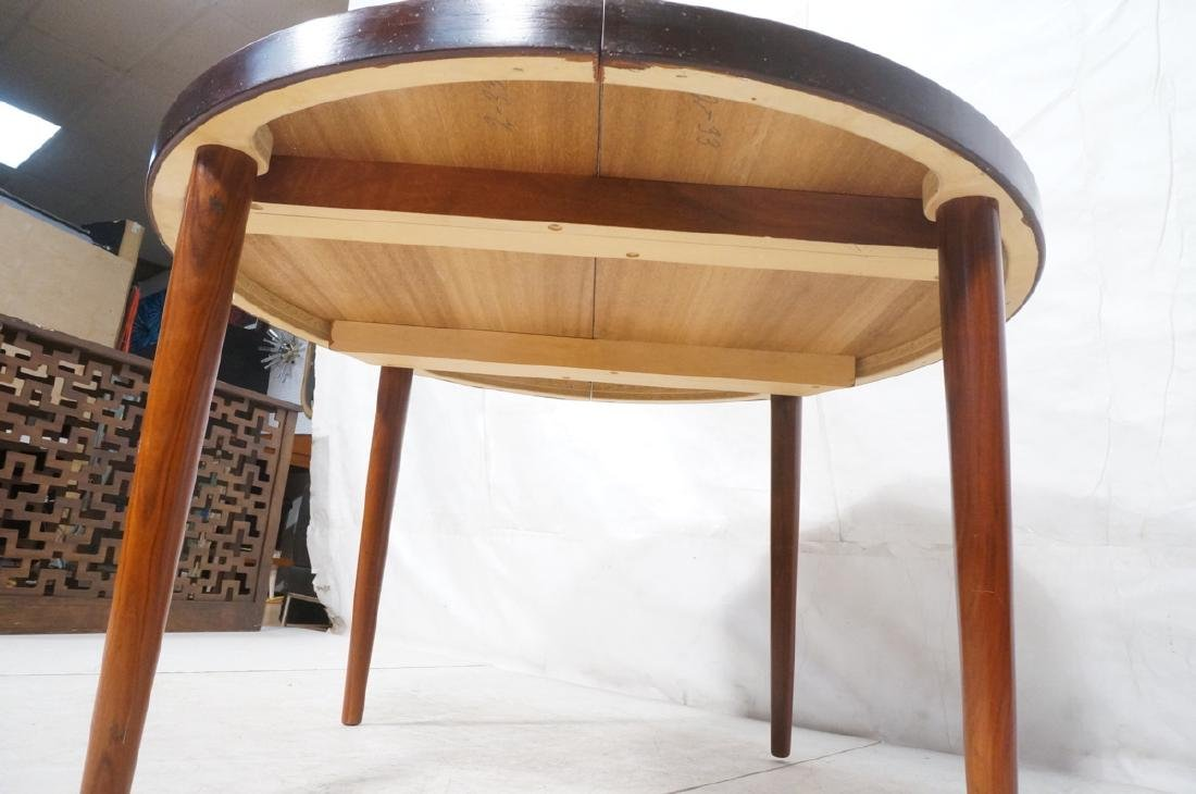 Round Rosewood Modernist Dining Table. Tapered le - 6