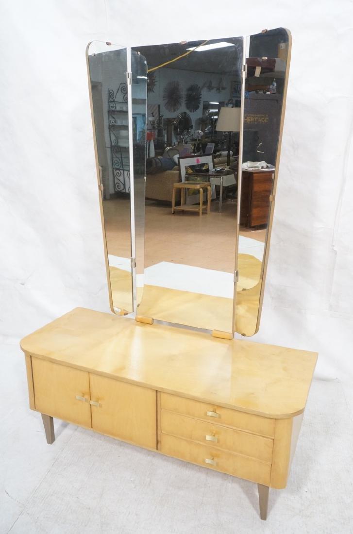 Blond Maple Modernist Vanity. Low profile cabinet