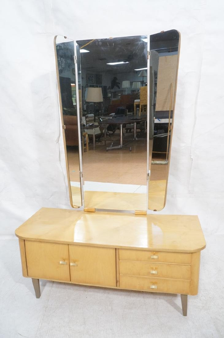 Blond Maple Modernist Vanity. Low profile cabinet - 2