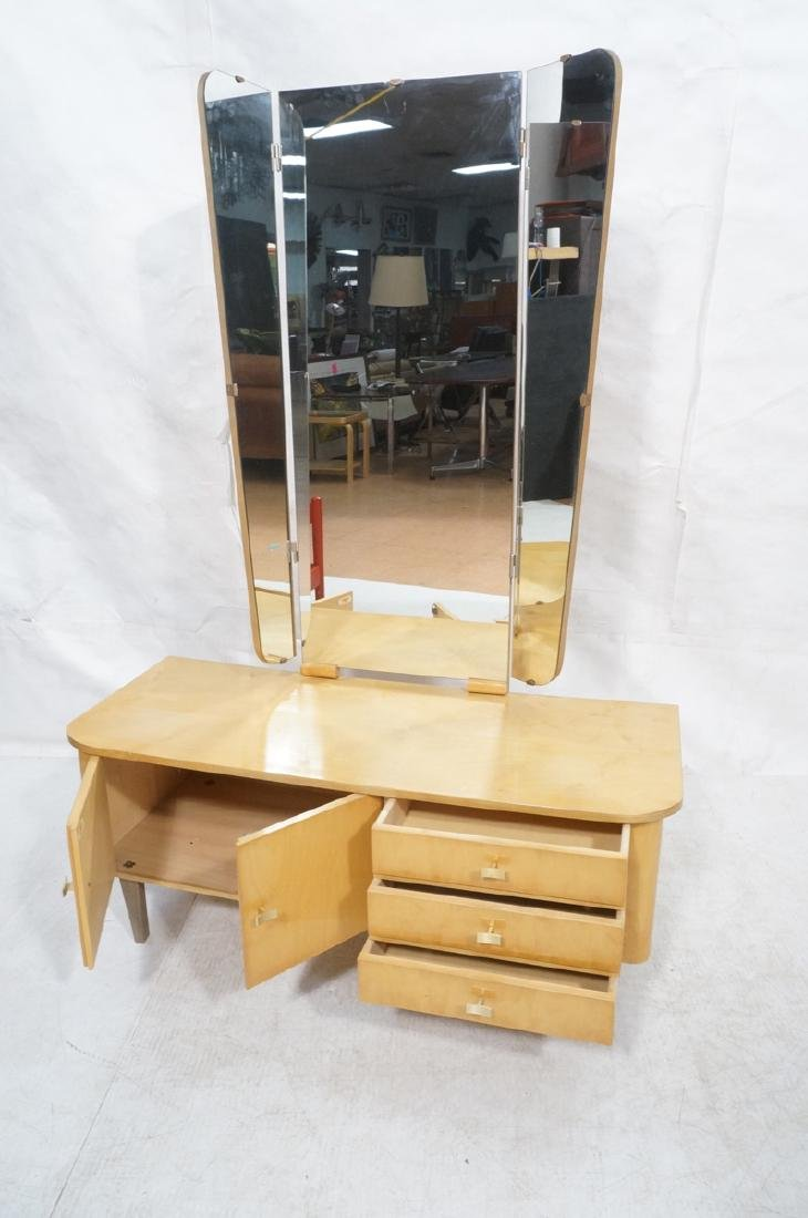 Blond Maple Modernist Vanity. Low profile cabinet - 8