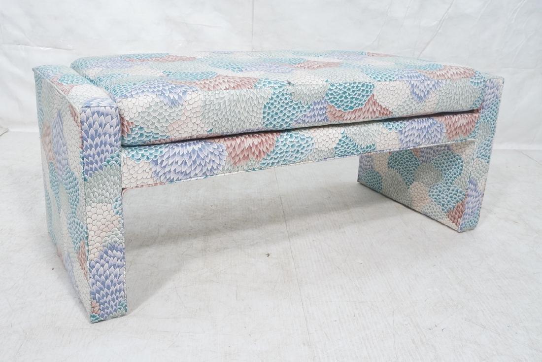 Modernist Upholstered Bench Seat. Fully upholster