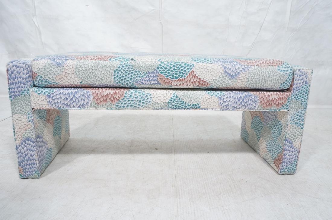 Modernist Upholstered Bench Seat. Fully upholster - 2