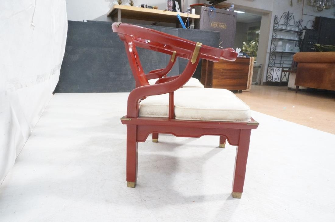 Pr CENTURY Lacquered Asian Style Lounge Chairs. H - 4