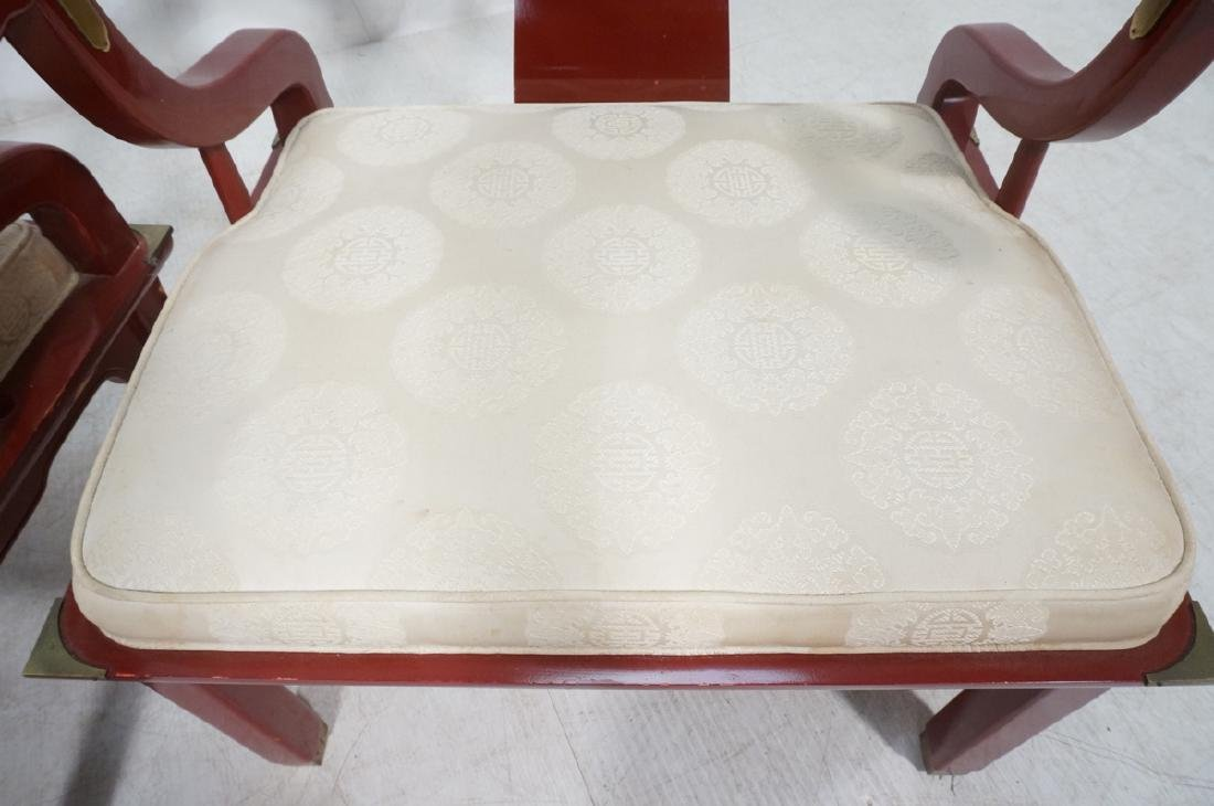 Pr CENTURY Lacquered Asian Style Lounge Chairs. H - 9