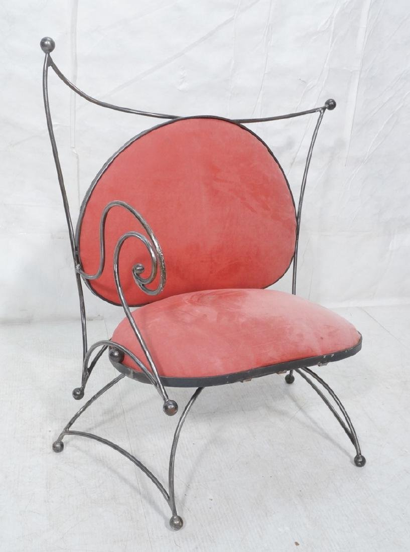 Steel Frame Contemporary Lounge Chair. Decorative