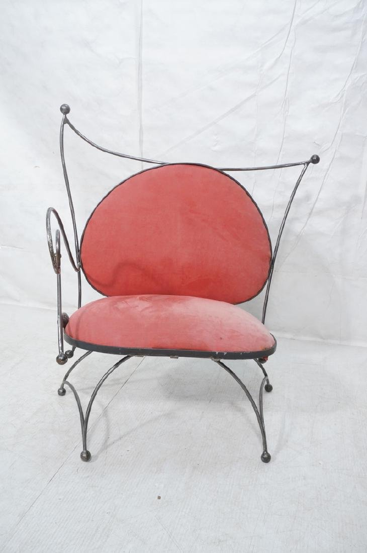 Steel Frame Contemporary Lounge Chair. Decorative - 2