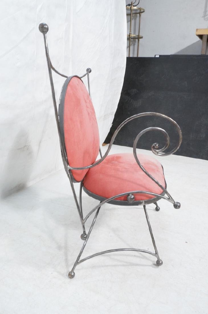Steel Frame Contemporary Lounge Chair. Decorative - 3