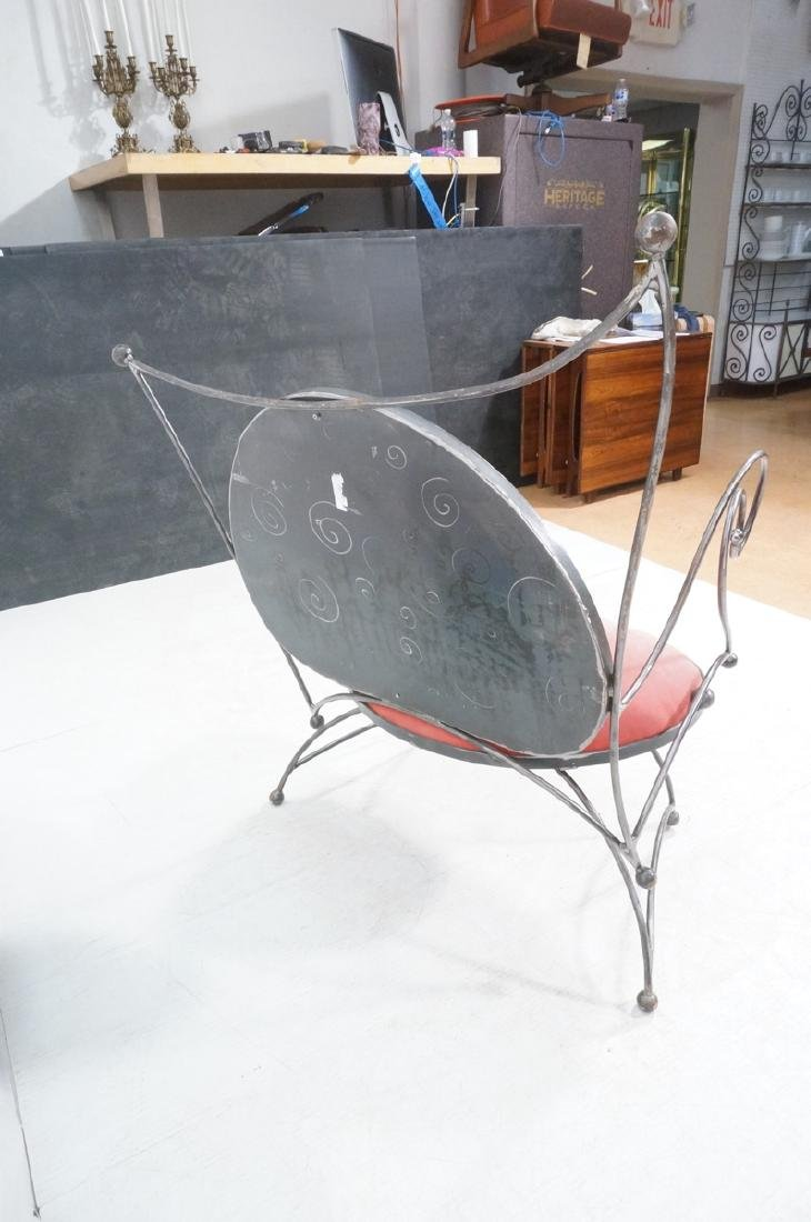 Steel Frame Contemporary Lounge Chair. Decorative - 5