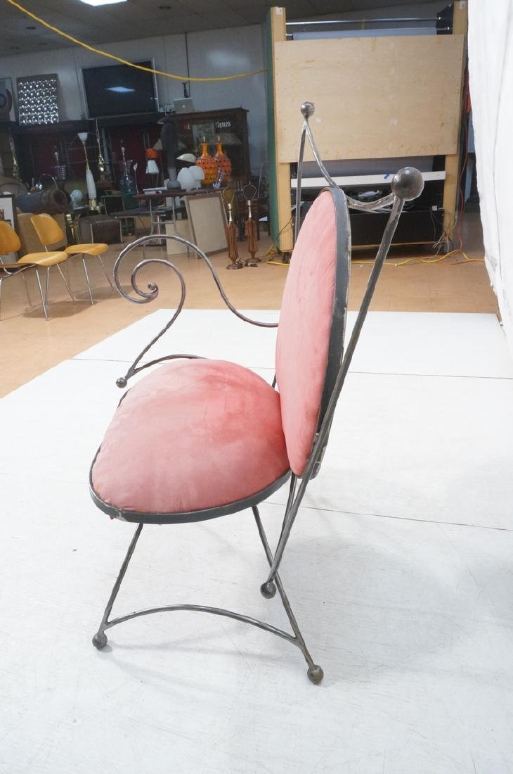 Steel Frame Contemporary Lounge Chair. Decorative - 6