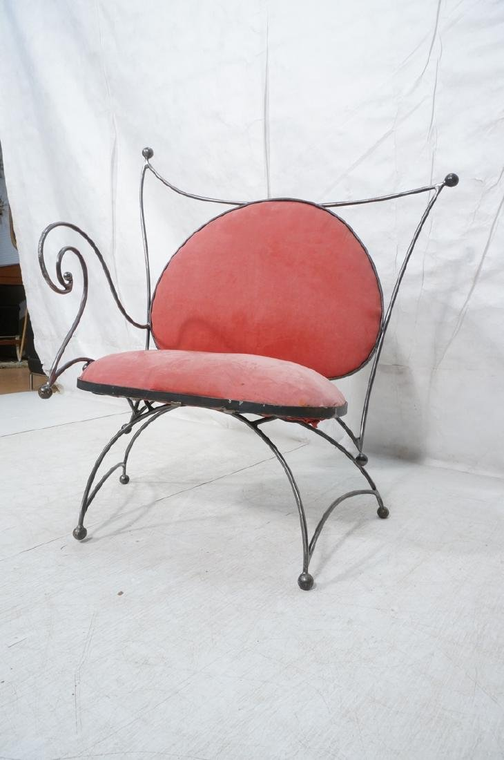 Steel Frame Contemporary Lounge Chair. Decorative - 7
