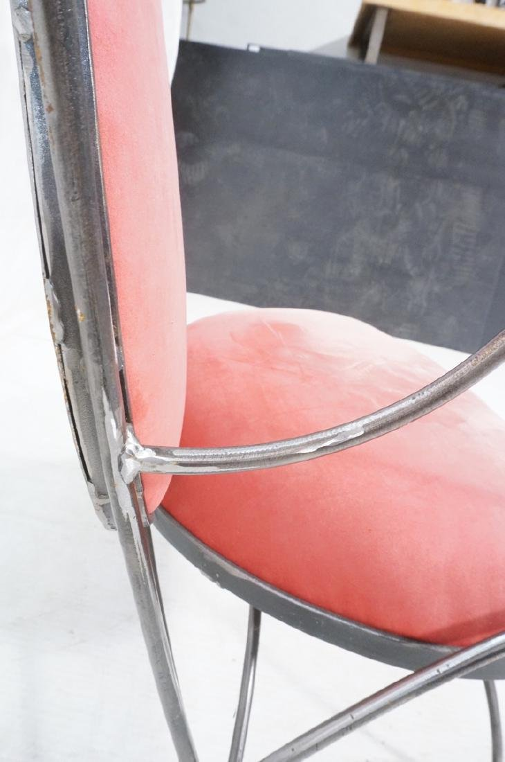 Steel Frame Contemporary Lounge Chair. Decorative - 8