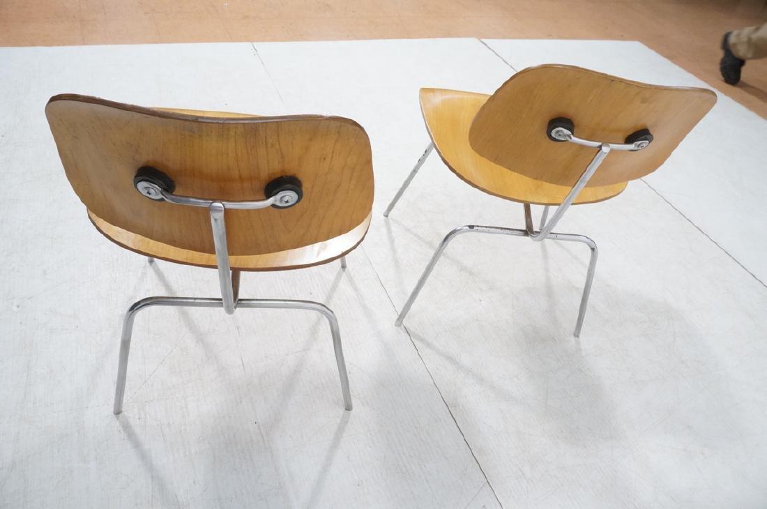 Pr HERMAN MILLER DCM Dining Chairs. Laminated woo - 4