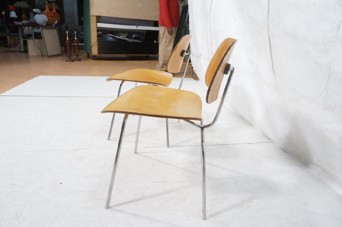 Pr HERMAN MILLER DCM Dining Chairs. Laminated woo - 5