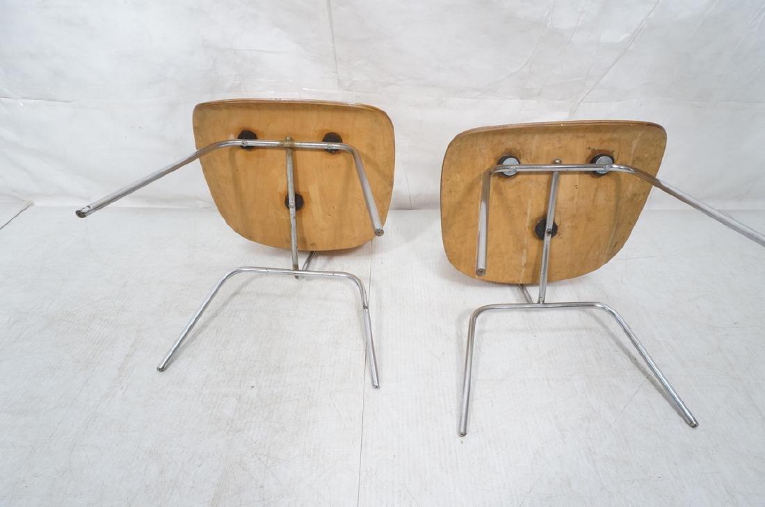 Pr HERMAN MILLER DCM Dining Chairs. Laminated woo - 6