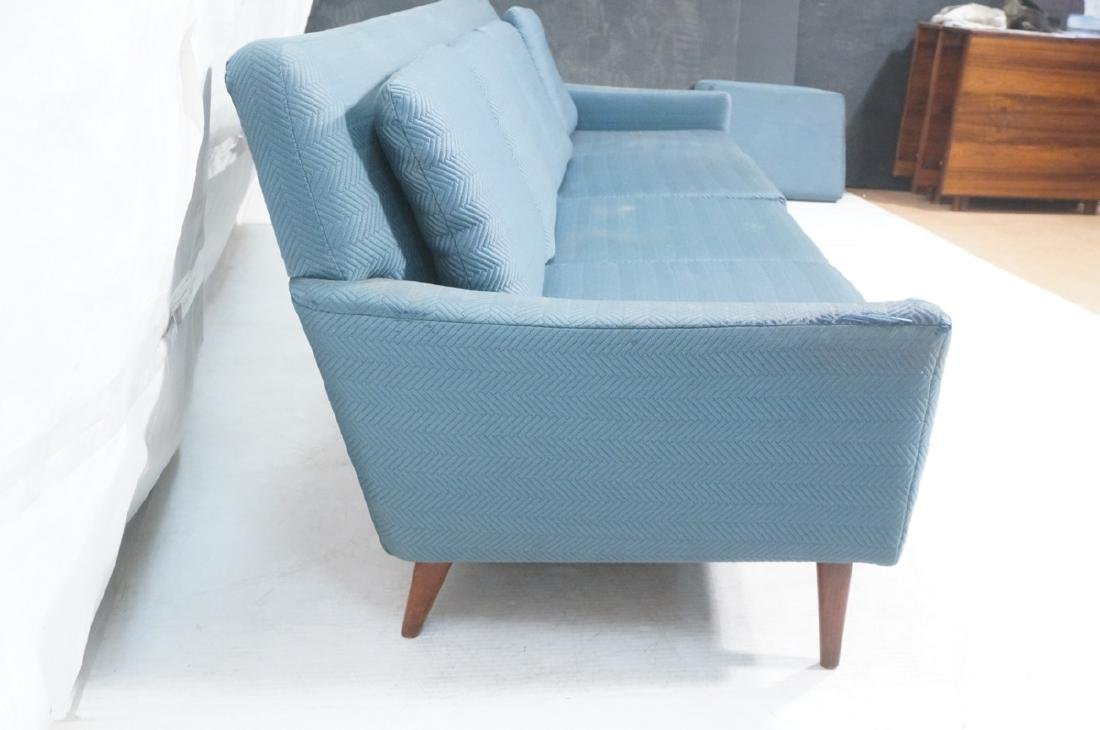 DUX Modern Blue Sofa Couch. Tapered peg legs. Unm - 3