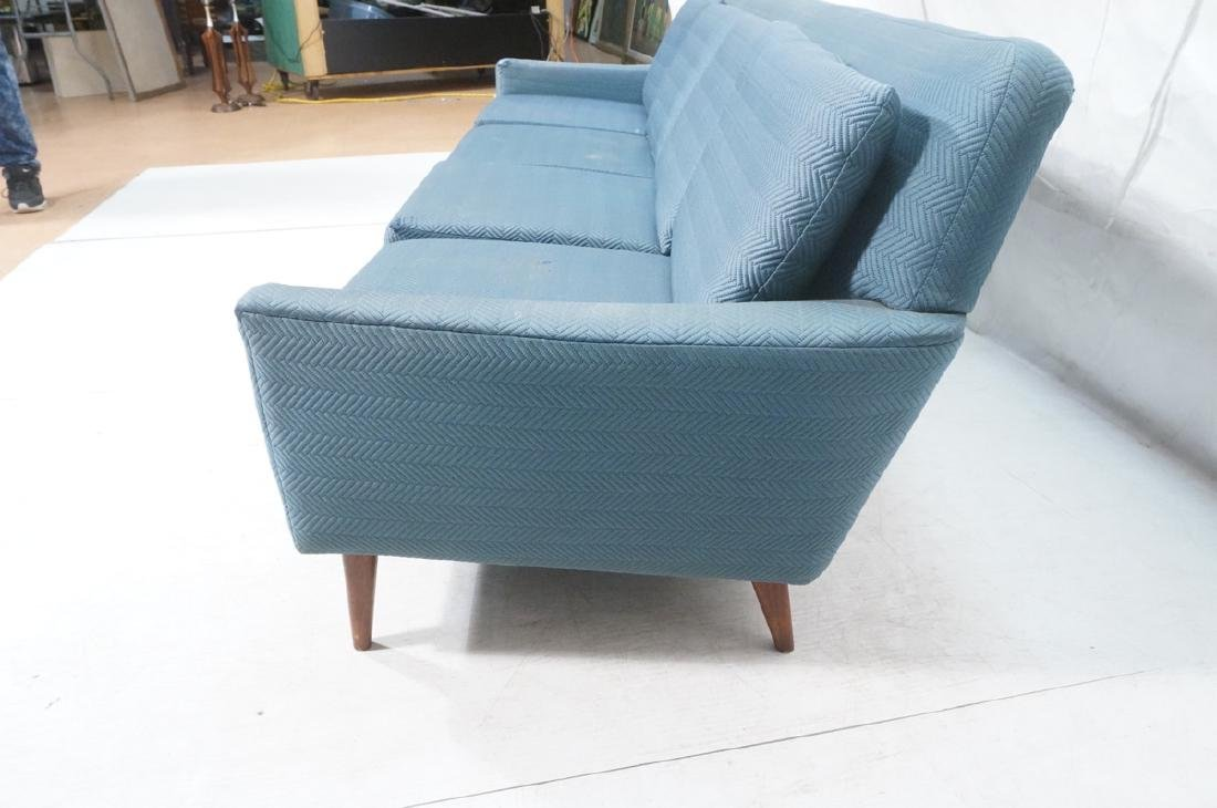 DUX Modern Blue Sofa Couch. Tapered peg legs. Unm - 5