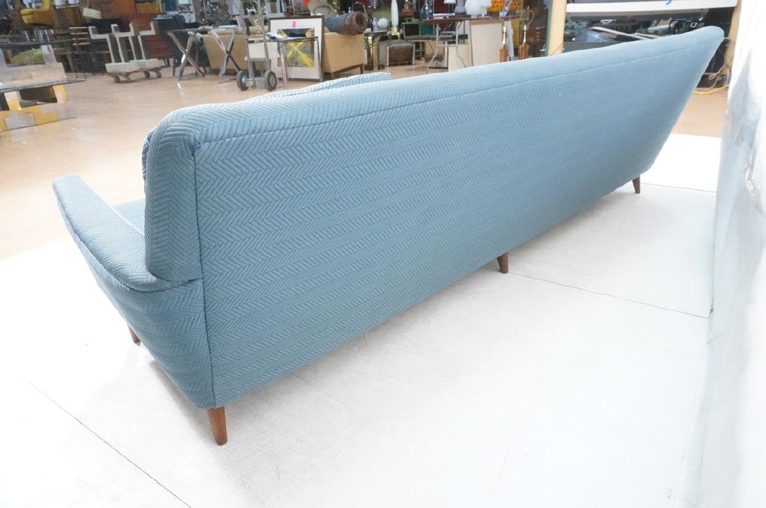 DUX Modern Blue Sofa Couch. Tapered peg legs. Unm - 6