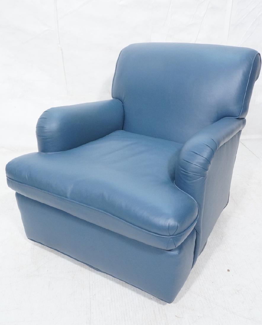 Greenbaum Interiors Leather Lounge Chair.  Blu  S