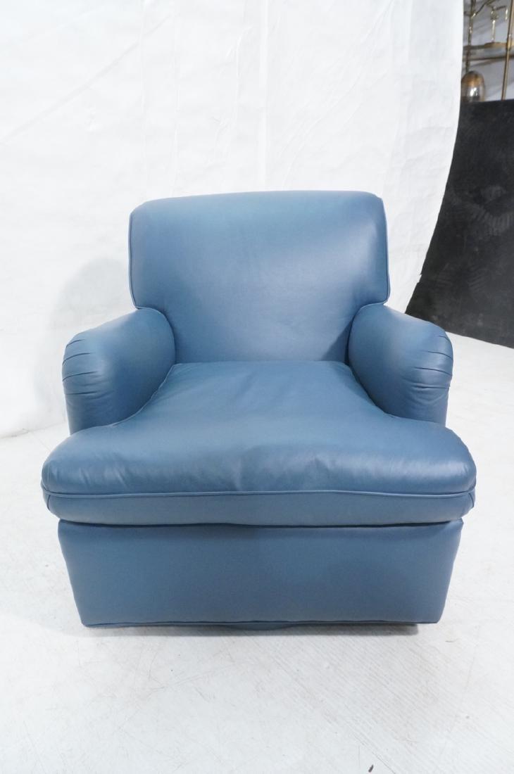 Greenbaum Interiors Leather Lounge Chair.  Blu  S - 2