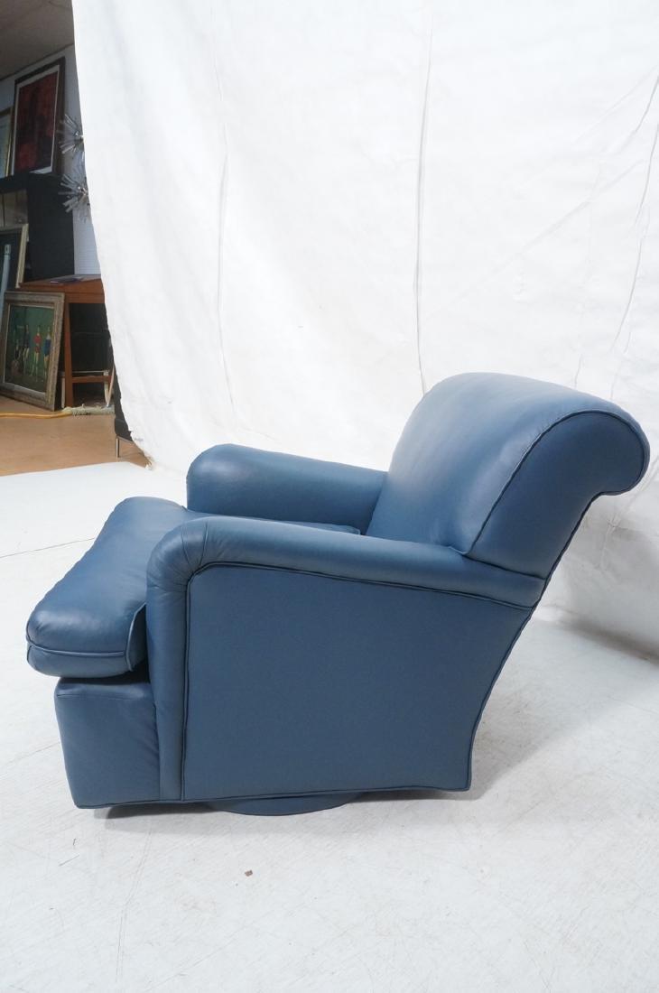Greenbaum Interiors Leather Lounge Chair.  Blu  S - 3