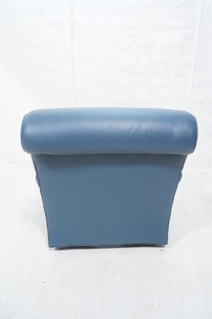 Greenbaum Interiors Leather Lounge Chair.  Blu  S - 4