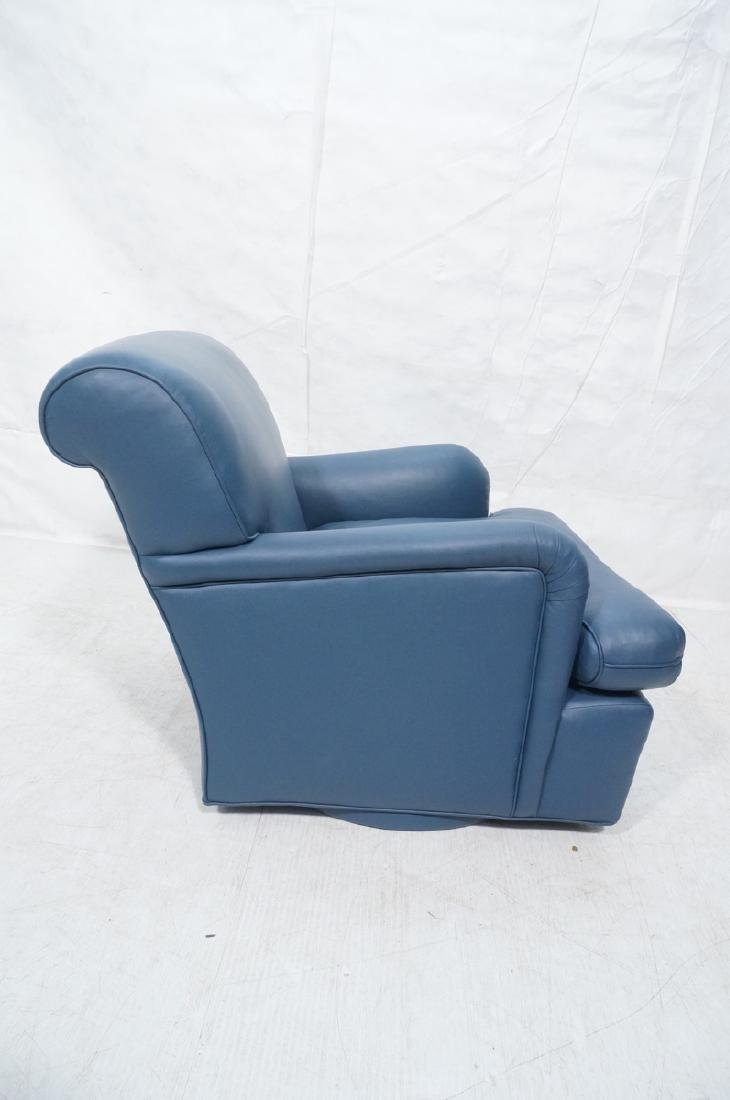 Greenbaum Interiors Leather Lounge Chair.  Blu  S - 5