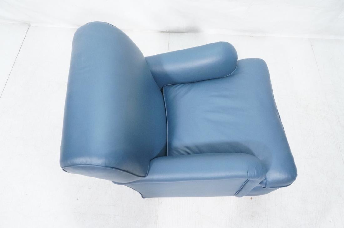 Greenbaum Interiors Leather Lounge Chair.  Blu  S - 6