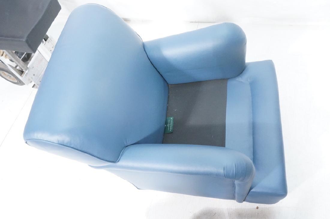 Greenbaum Interiors Leather Lounge Chair.  Blu  S - 7