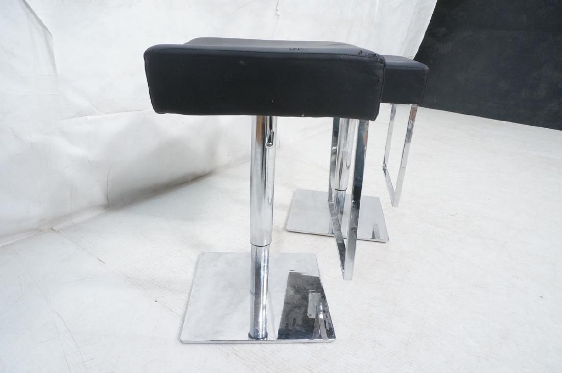 Pr Modernist Heavy Hydraulic Adjustable Bar Stool - 3