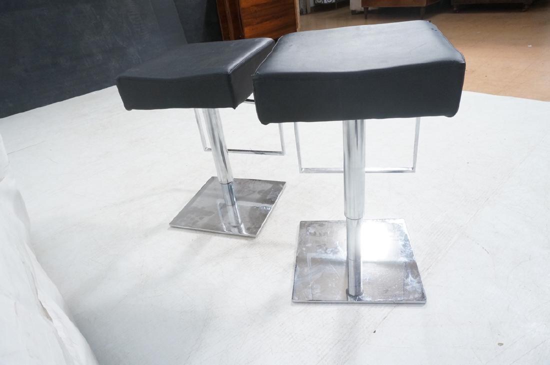 Pr Modernist Heavy Hydraulic Adjustable Bar Stool - 4
