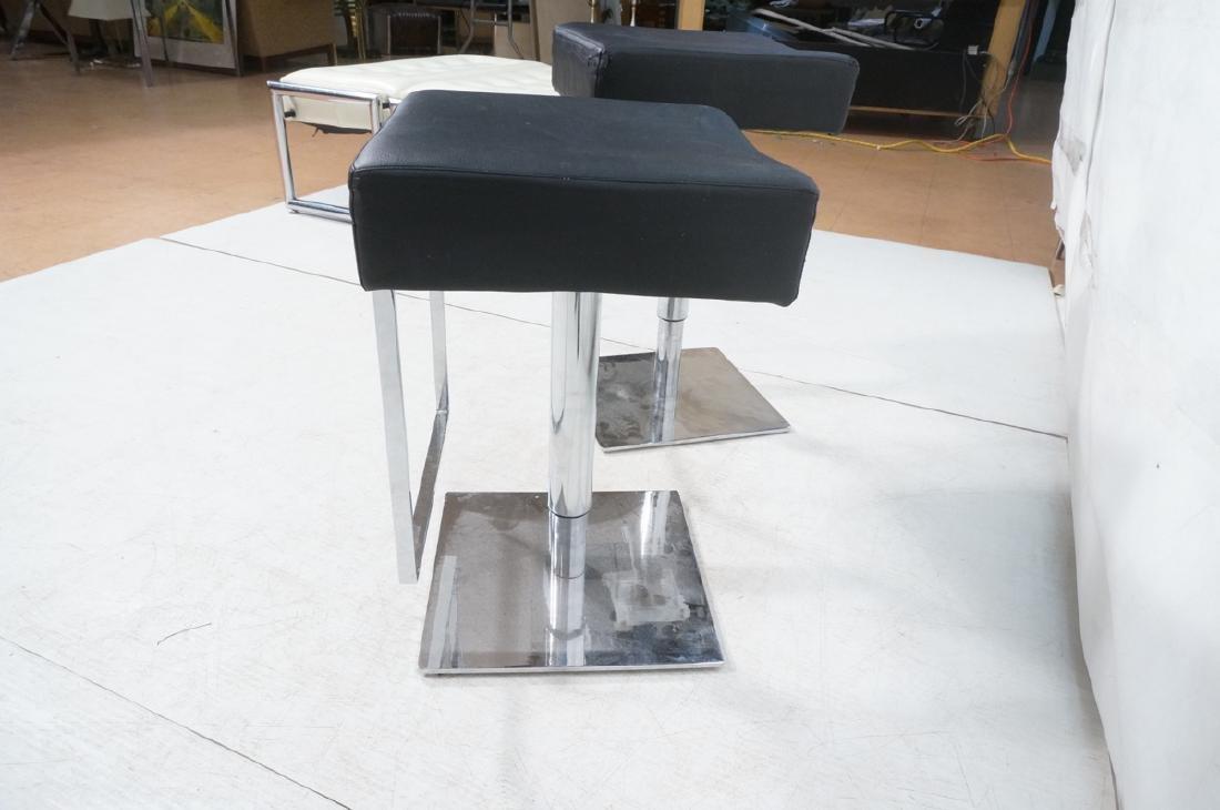Pr Modernist Heavy Hydraulic Adjustable Bar Stool - 5