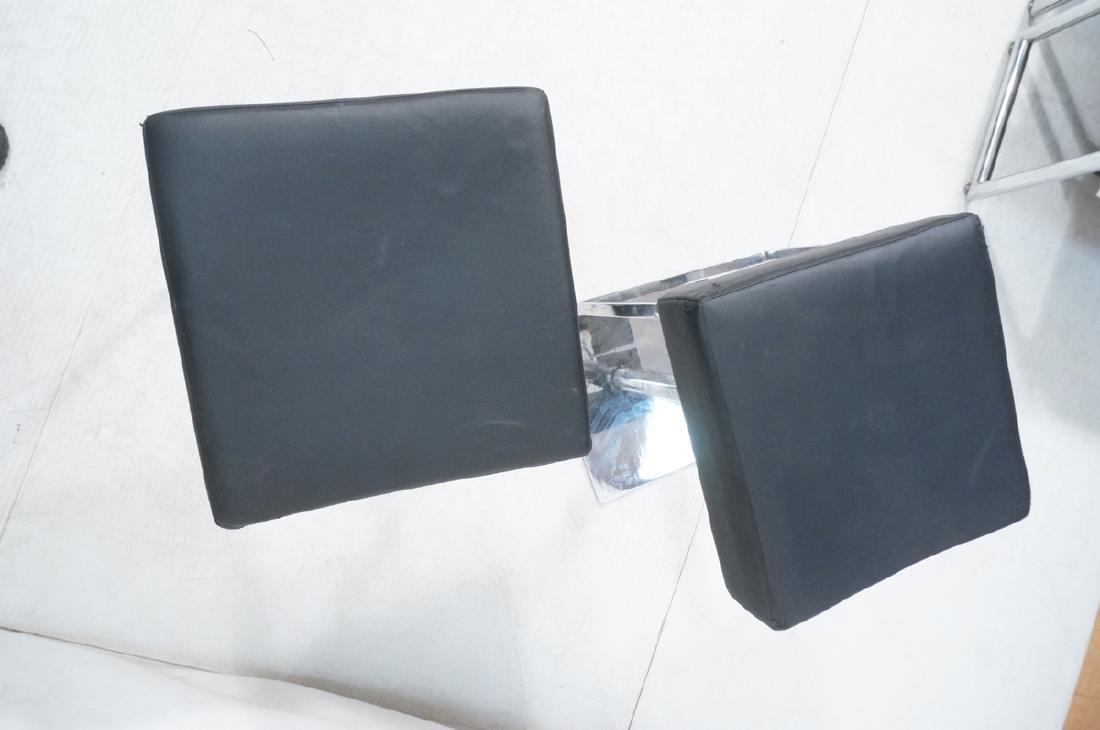 Pr Modernist Heavy Hydraulic Adjustable Bar Stool - 6