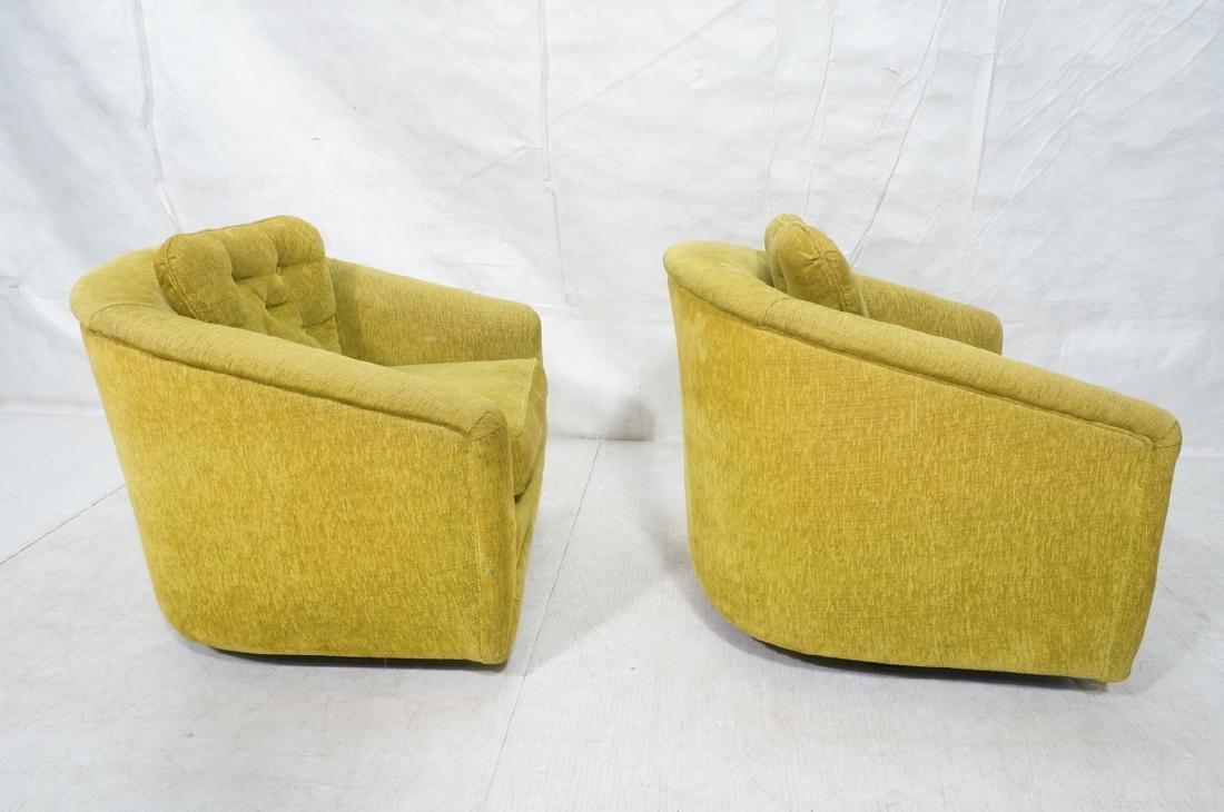 Pr Lime Green Barrel Back Swivel Chairs. Modernis - 5