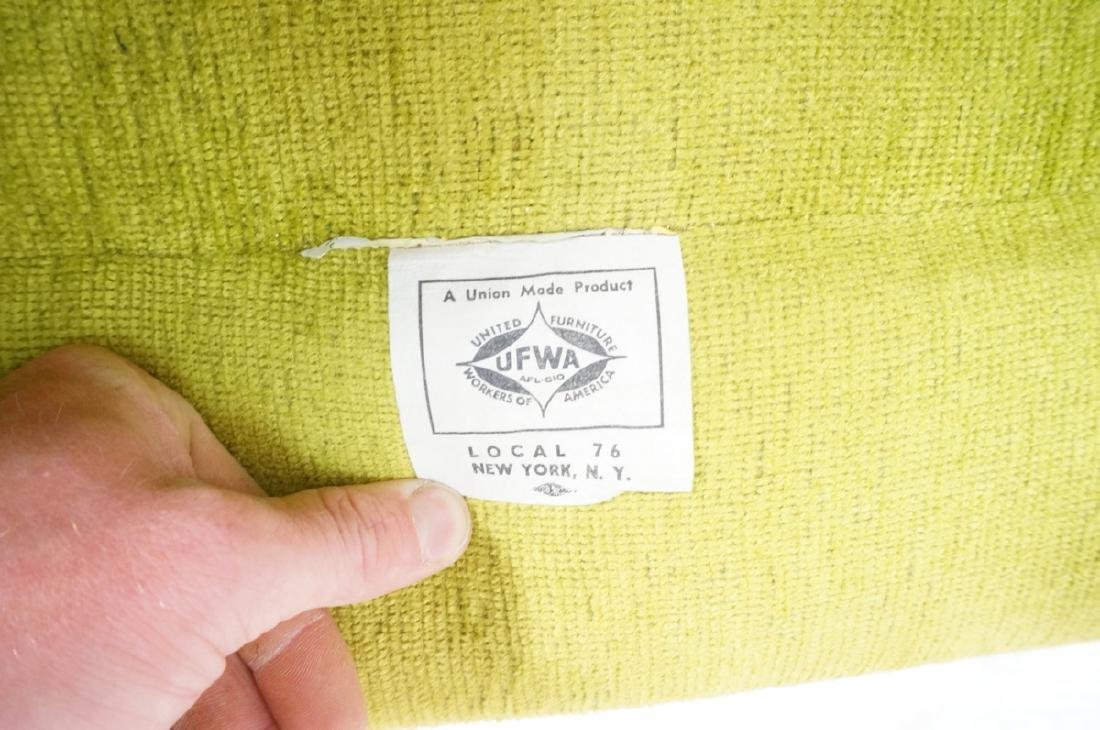 Pr Lime Green Barrel Back Swivel Chairs. Modernis - 7