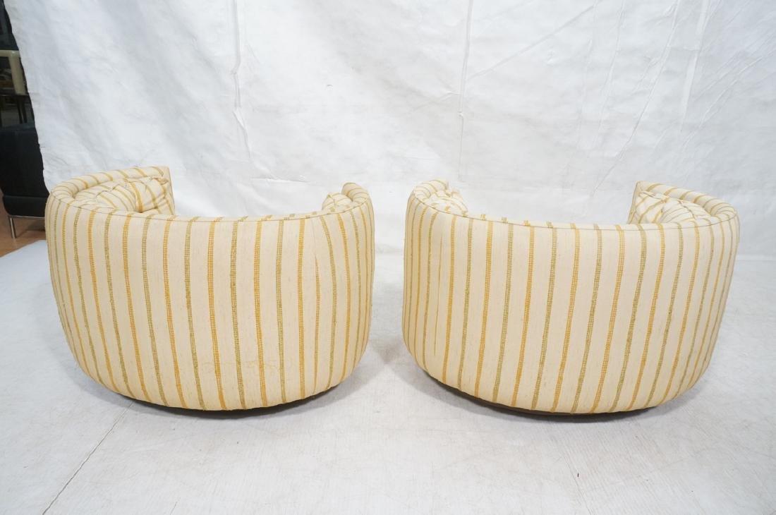 Pr Mid Century Custom Oval Barrel Back Chairs. Tu - 4