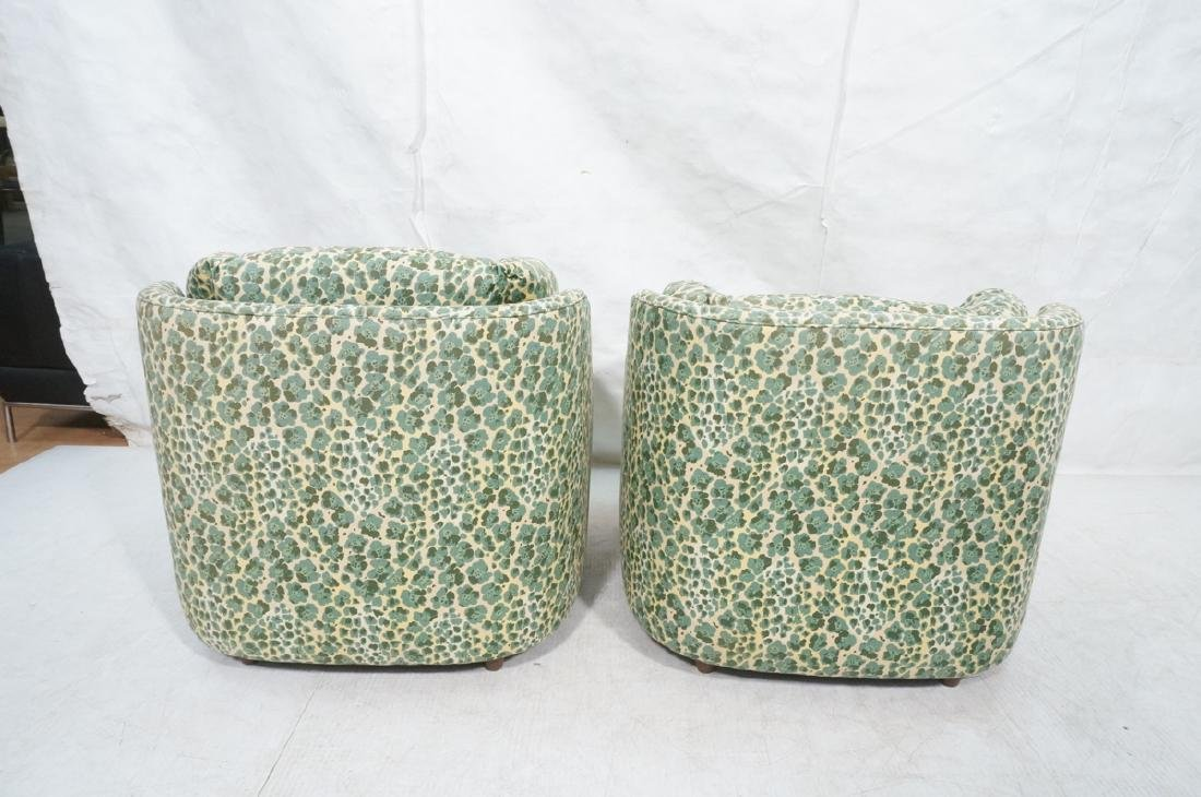 Pr Modernist Fabric Covered Lounge Chairs. Front - 4