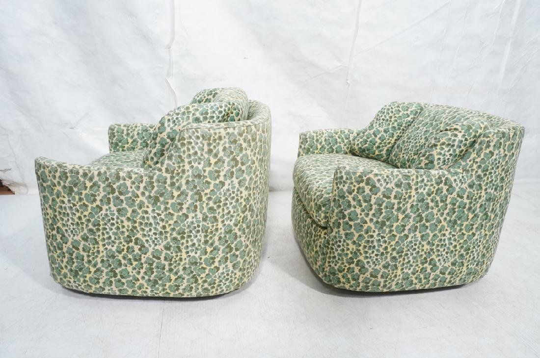 Pr Modernist Fabric Covered Lounge Chairs. Front - 5