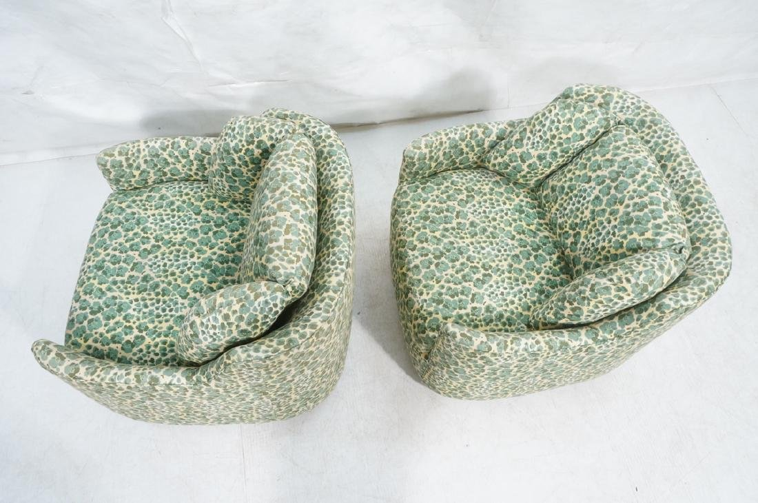 Pr Modernist Fabric Covered Lounge Chairs. Front - 6