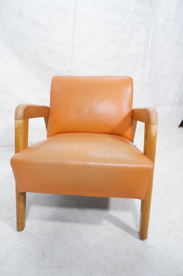Blond Wood Open Armed Lounge Chair. Vintage chair - 2