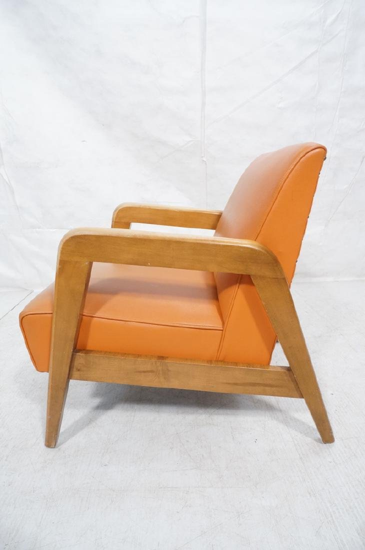 Blond Wood Open Armed Lounge Chair. Vintage chair - 3