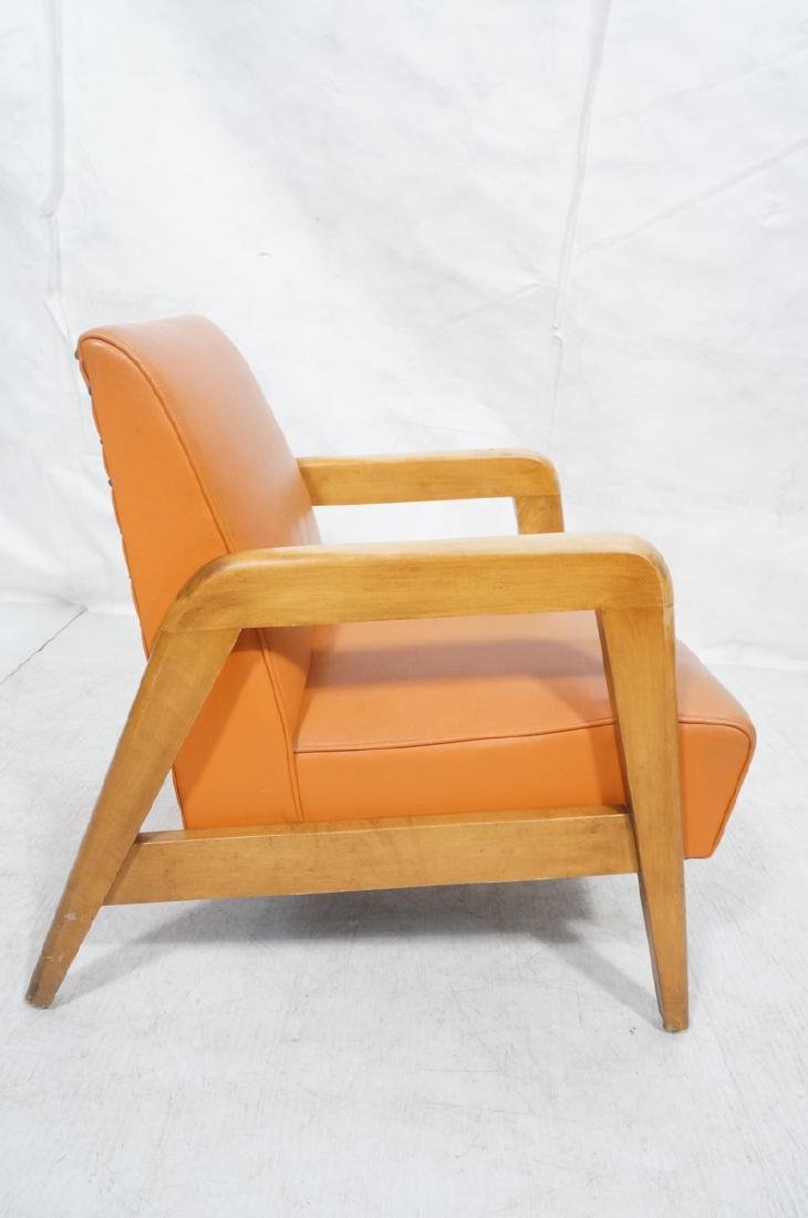 Blond Wood Open Armed Lounge Chair. Vintage chair - 5