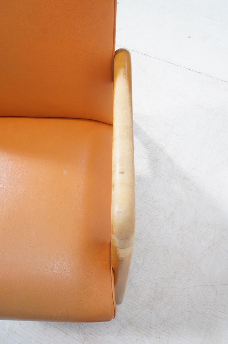 Blond Wood Open Armed Lounge Chair. Vintage chair - 9