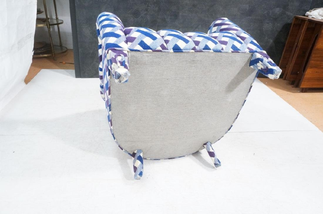 2 Fully Upholstered Lounge Chairs & Ottoman Stool - 10