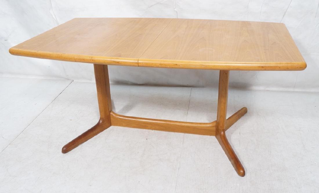 SKOBVBY Danish Modern Teak Bow Side Dining Table.