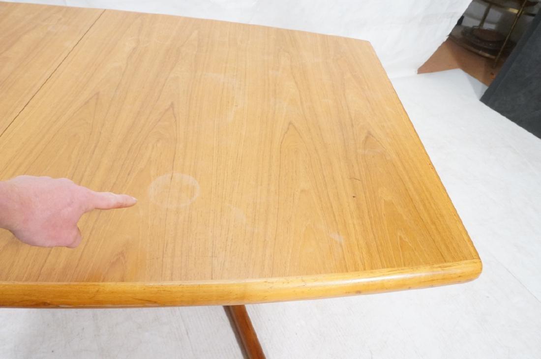 SKOBVBY Danish Modern Teak Bow Side Dining Table. - 9
